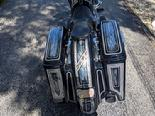 harley stretched saddle bags
