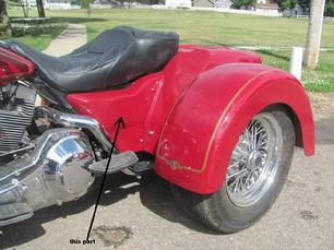 motorcycle trike body with side covers