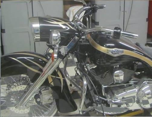Raked & stretched harley road king nacelle